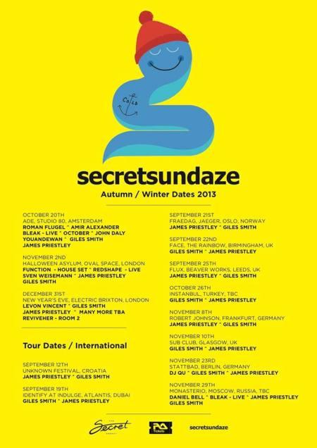 secretsundaze tour